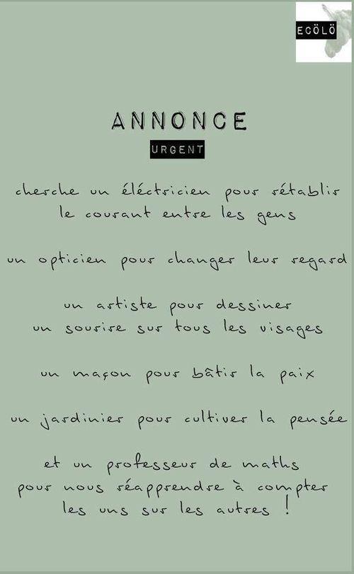 Annonce <3