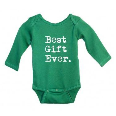 A beautiful bouncing baby all wrapped up in a cute, holiday onesie? Now THAT'S an awesome gift!