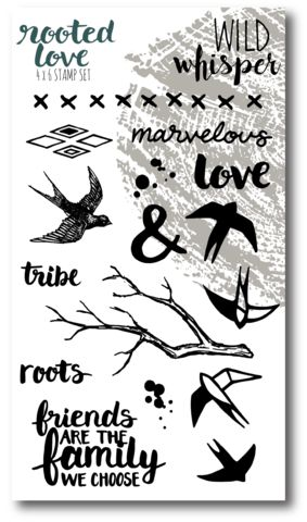 Wild Whisper Rooted Love Stamp Set