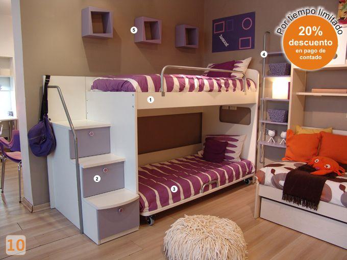 Mejores 9 imágenes de camas niños en Pinterest   Camas niños, Camas ...