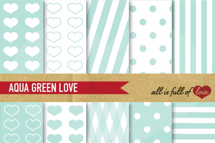 This is a Kit with Mint green Digital Background Sheets :: Patterns with hearts, dots & lines. You get 10 High Quality Sheets :: JPG files in Letter and A4 size with 300 dpi jpg, for perfect printing or digital use. These have so many uses, they are great for scrapbooking, crafts, party decor, DIY projects, blogs, stationery & more. All patterns are original and copyrighted by All is Full of Love