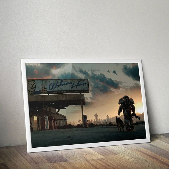 Fallout Inspired Poster Print | Poster | Wall Art | Video Game Art | Video Game Poster | Digital PrintGamer Gift, Boyfriend Gift
