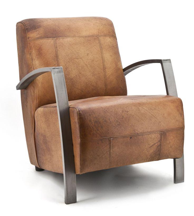 Gunther fauteuil cognac - Eleonora