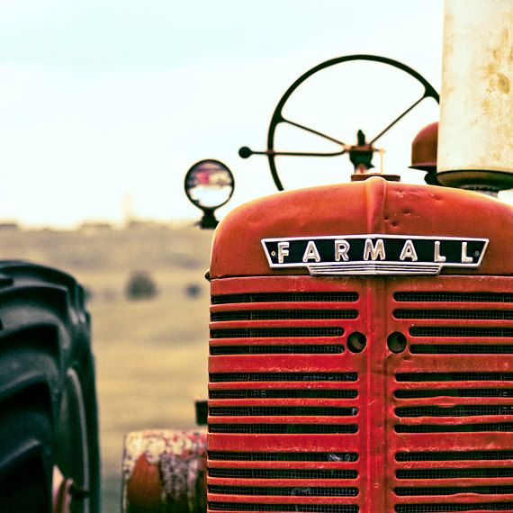 BOGO SALE - Farmall 8x8 - Red Tractor Photo - Farm Photograph - Red Tractor Wall Art  - Tractor Print - Kids Wall Art - Color Photo. $30.00, via Etsy.