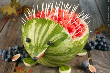 Hedgehog fruit salad
