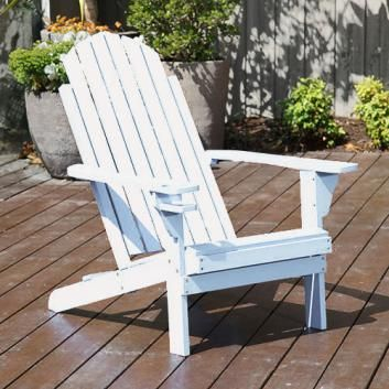 Adirondack Outdoor Lounge Chair White