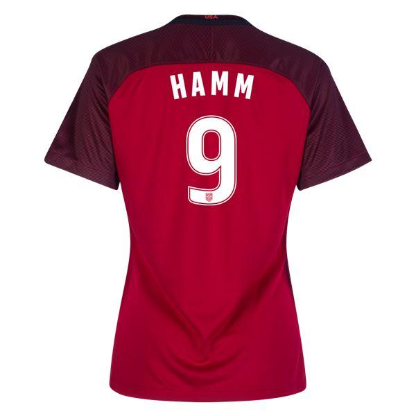 2017/18 USA Third Mia Hamm Women's 3-Star Soccer Jersey (#9)