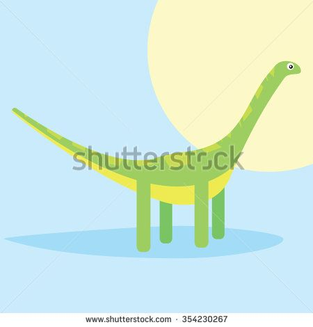 Green dinosaur - stock vector