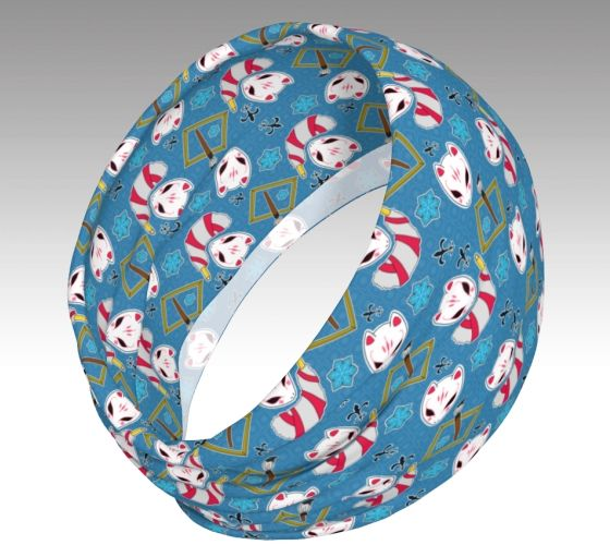 Featuring motifs with P5's Yusuke Kitagawa in mind, this stretchy cloth allows it to be worn in various ways!  1)Fold it inwards to wear as a headband or to push back hair and act as a hairband 2)Let it loosely sit around your neck as a fashionable scarf