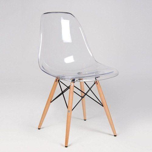 Cadeira Charles Eames Eiffel Em Policarbonato Transparente - R$ 279,00 em Mercado Livre