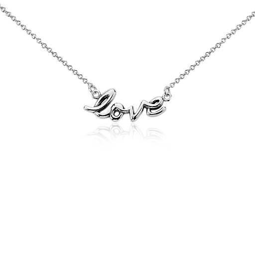 """""""Love"""" Necklace in Sterling Silver"""