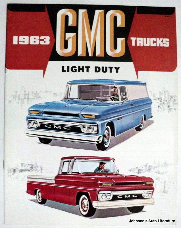 GMC 1963 Light Duty Truck Brochure Canadian Market