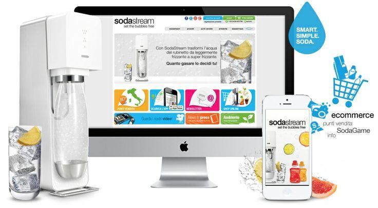 Sodasteam.it Set the bubbles free! Trasforma l'acqua di rubinetto in acqua gasata e deliziose bibite.