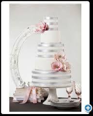 bruidstaarten wit rood zilver - Google zoeken