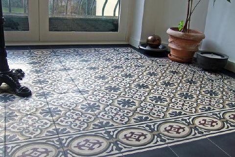 Trujillo Spanish Encaustic Cement Tiles, Handmade in Spain