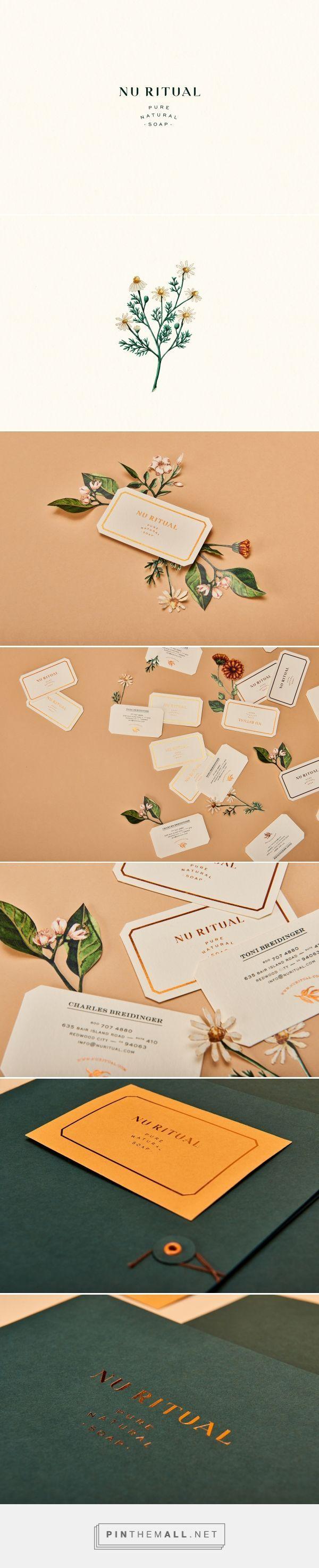 nu ritual / branding, print design, business cards, natural soap, logo design