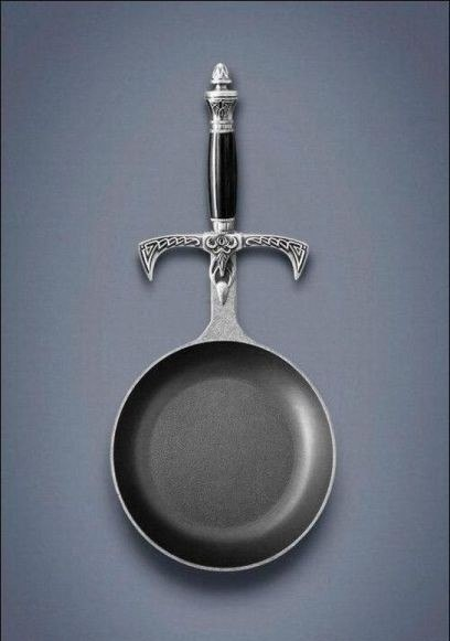 Weaponized frying pan