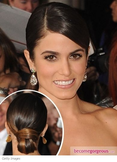 Nikki Reed's looped bun