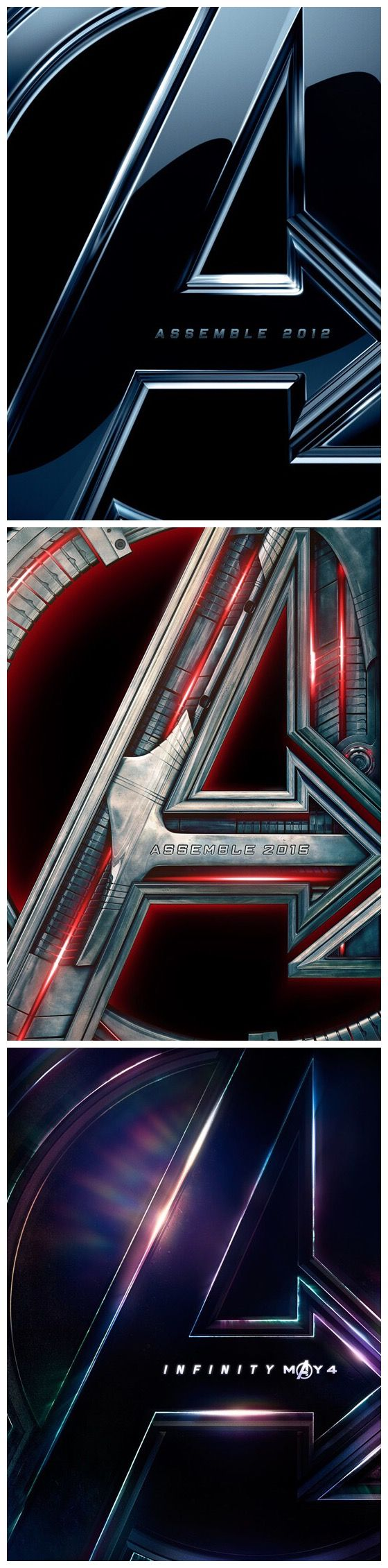Avengers teaser posters through the years