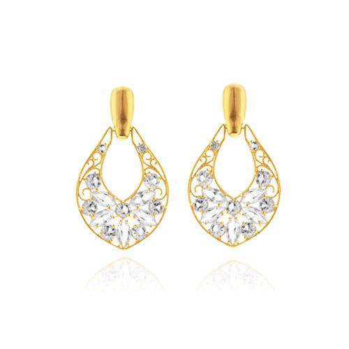 Brinco Crystal: folheado a ouro, prata, rose ou prata negra Peça com cristais de 3,4,5 mm Peso: 7 grs Comprimento: 5,5 cm Ref: A033 Link: www.gsstore.com.br
