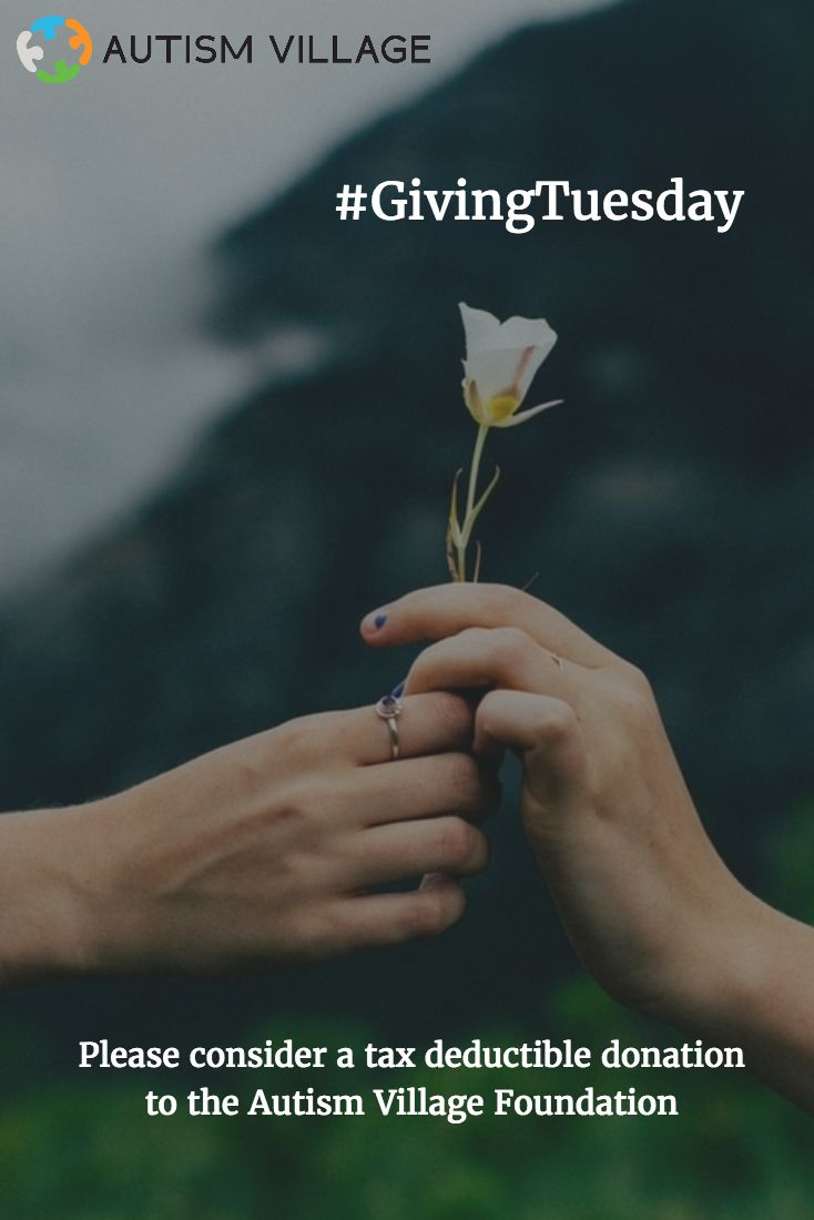 "On this ""Giving Tuesday"", we're helping families of autism navigate day to day challenges. Thank you for your continued support! Our free apps are available for download at the iTunes Store or the Google Play Store #autismvillage #GivingTuesday"