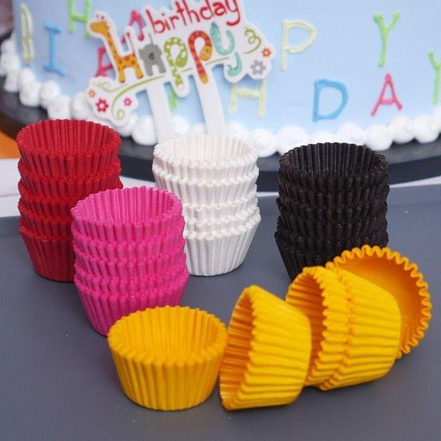 1000pcs 25x21mm Mini Colorful Paper Cake Cupcake Liner Baking