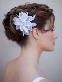 flower in hair up-do idea for bridesmaids