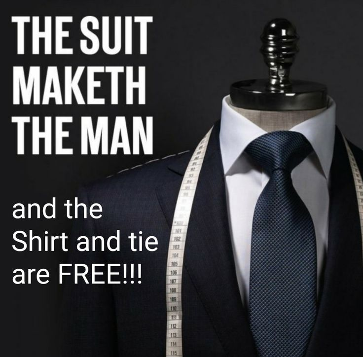Free shirt and tie with every suit sold...