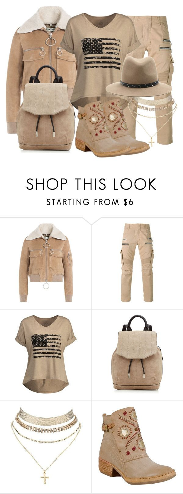 """""""subdued flag II"""" by caroline-buster-brown ❤ liked on Polyvore featuring Off-White, Balmain, rag & bone, Charlotte Russe, A.S. 98 and fourthofjuly"""