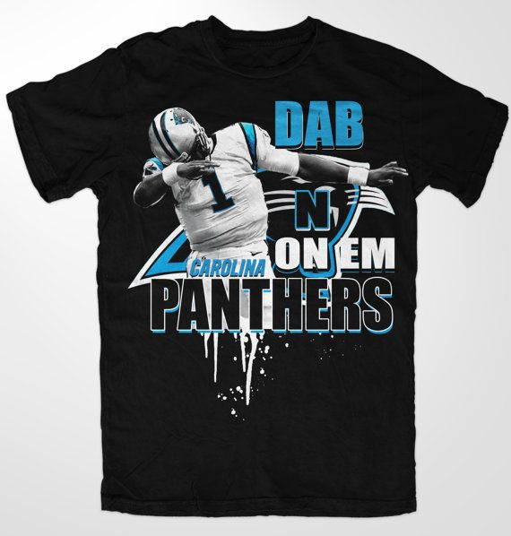 Carolina PANTHERS Cam Newton Dab NFL shirt  Cam by KAMA4KCUSTOMS