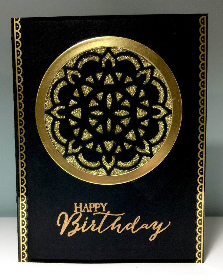 I just had to make a black and gold card using the Eastern Palace Suite! #stampinup #easternpalacesuite #birthday