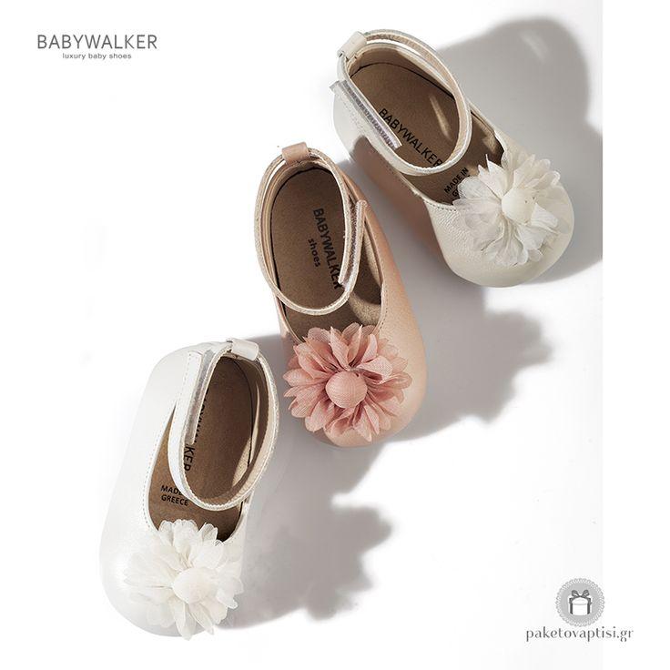 Παπουτσάκια για τα Πρώτα Βήματα με Διακοσμητικό Λουλούδι Babywalker PRI2509