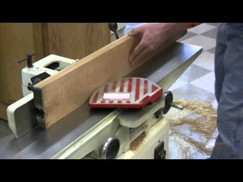 ▶ Planing rough-sawn lumber with a jointer and planer - YouTube