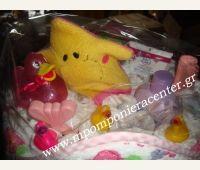 Τούρτα για νεογέννητο κοριτσάκι με