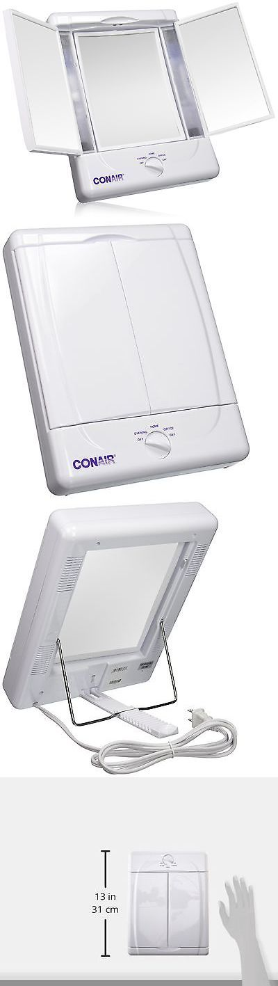 Makeup Mirrors: Illumina By Conair Collection Two-Sided Lighted Makeup Mirror With 3 Panels A... -> BUY IT NOW ONLY: $40.27 on eBay!