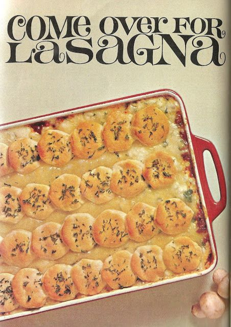 Wasn't there somehow pasta involved in lasagna? No way, real Italian chefs make it only with canned biscuits. //Bad and Ugly of Retro Food: The Versatility of Canned Biscuits