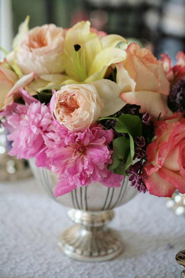 Flowers. I Love The Low Silver Bowl! They Would Looks So Nice With The