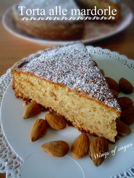 torta alle mandorle- wings of sugar