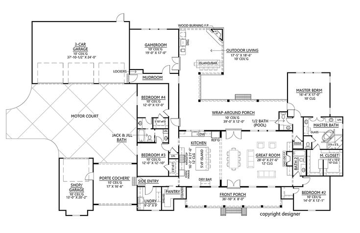 Traditional Style House Plan 41401 With 4 Bed 4 Bath 4 Car Garage Family House Plans Acadian House Plans House Plans Traditional style house plan