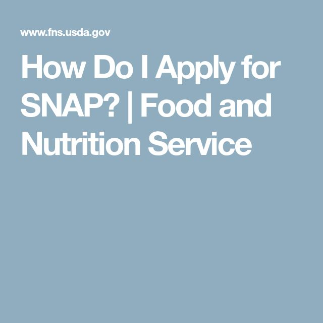 How Do I Apply for SNAP? | Food and Nutrition Service