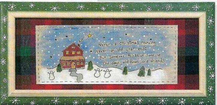 Christmas Scenery Poem Stitchery E Pattern Primitive PDF