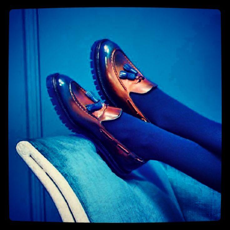 #icon #icons #brera #loafer #iconic #breraloafer #fw1415 #blue #hazelnut #handpainted #tassels #craftsmanship #lugsole #ponspons