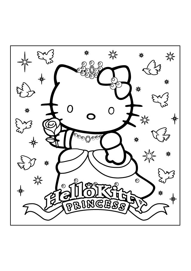hello kitty coloring pages adorable hello kitty coloring pages