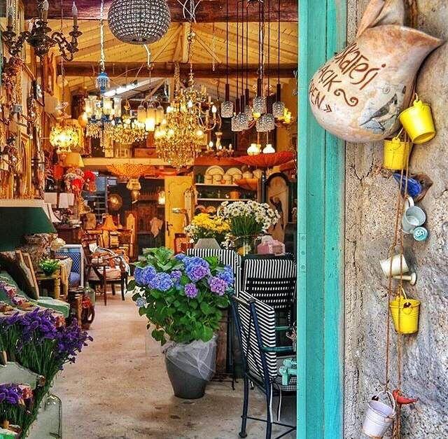 Local Antique and Gift store in Alacati, Turkey via www.grandbazaarshopping.com