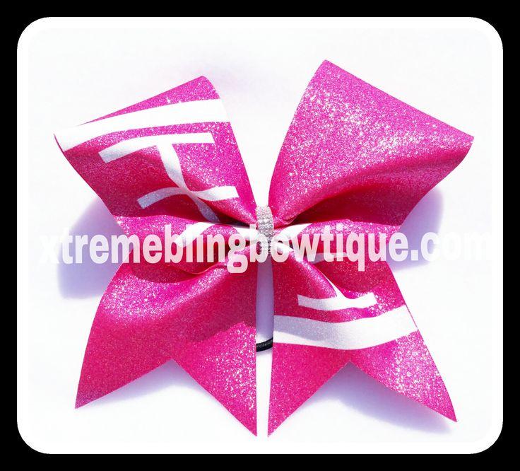 Cheer Bow --Football Breast Cancer Awareness