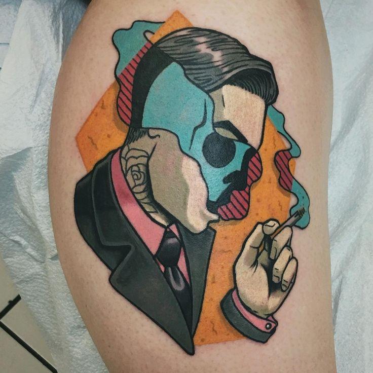 Amazing Surrealistic Neotraditional Tattoo Idea