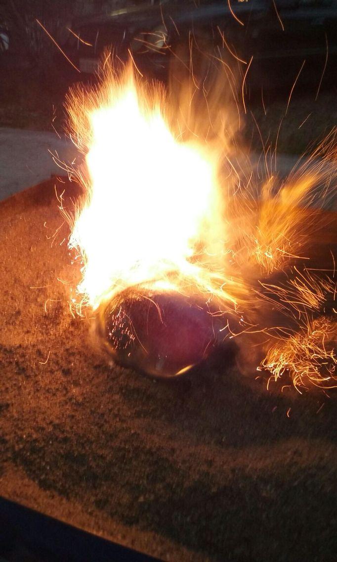 Raku fire, Raku vase creation!
