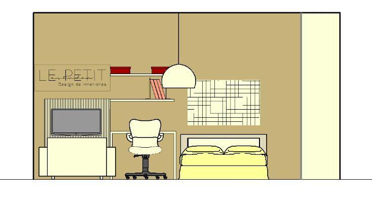 projetando kitnet - vista