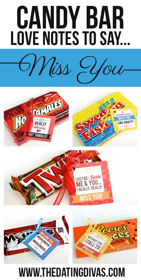 Free printable candy bar gift tags!