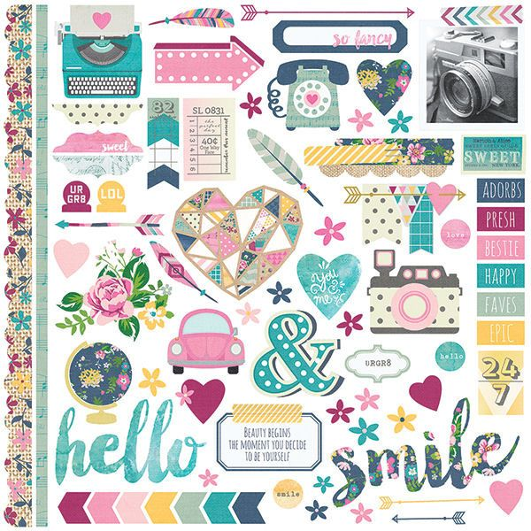 Simple Stories - So Fancy Collection - 12 x 12 Cardstock Stickers - Fundamentals at Scrapbook.com